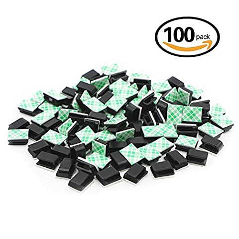 100 Pack Adhesive Cable Clips Wire Management Cable Tie Holder for Car, Office and Home