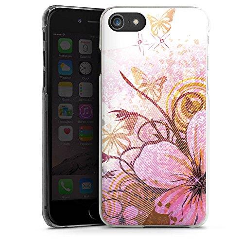 Apple iPhone X Silikon Hülle Case Schutzhülle Schmetterling Blüte Blume Hard Case transparent