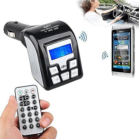 New Bluetooth Auto MP3-Player Wireless FM Transmitter Show Lied Titel Memory-Funktion, Frequenz EQ USB SD Karte USB Fernbedienung