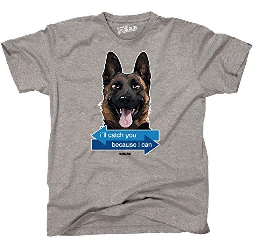 Siviwonder Unisex T-Shirt I´LL CATCH YOU - MALINOIS Hund Hunde fun WILSIGNS Sports Grey