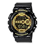 Casio G-Shock Digital Quarz Herren Uhr Schwarz Gold GD-100GB-1ER