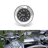 ViZe 7/8' 22mm Motorrad Uhren Lenkeruhren Zifferblatt Uhr Tick Tock für Harley...