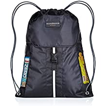 roundhause Premium grande impermeable Unisex cordón Gymsac bolsa Natación PE mochila Gymbag pequeño de deporte mochila w/6bolsillos apto para adultos y niños