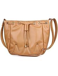 WOMEN MARKS Women Tan PU Sling Bag