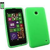 Emartbuy® Nokia Lumia 630 / Lumia 635 Silikon Hülle Schutzhülle Case Cover Grün