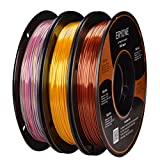 PLA Filament 1.75mm Silk Gold/Copper/Mini Rainbow, ERYONE Silky Shiny Filament PLA 1.75mm, 3D Printing Filament PLA for 3D Printer and 3D Pen, 3 Spools, 0.5kg/Color/Spool