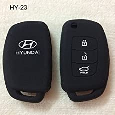 Driversion Silicone Flip Key Cover For Hyundai I20 (Igen) / New Verna / Xcent (Only For Flip Key)