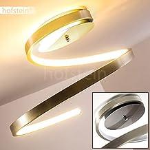 Lustre LED Sorrent au design contemporain – Plafonnier LED avec armature en métal finition nickel mat – Teinte de lumière blanc chaud parfait pour un luminaire de salon