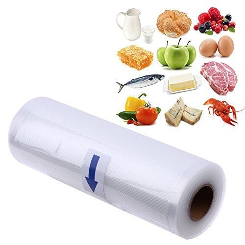 Professional Foil Bag, KCASA kc-vb01 25x500cm Vakuum Dichtungstasche Essen Kleber Maschine Tasche Küche frisch halten Speicherung für Vakuumierer Kochfest-Mikrowellen geeignet (Food Saver Roll-taschen)