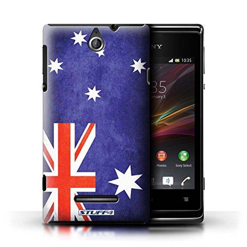 Kobalt® Imprimé Etui / Coque pour Sony Xperia E / Finlande/finlandais conception / Série Drapeau Australie/australien