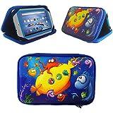 "e-dentm Argos Alba 7""(7pulgadas) Tablet infantil–Bolsa rígida, duradera Kids Funda, diseño de mar Case Only. 7"