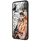 DAVIDLING AM-310 My Hero Academia One Piece Coque en Verre Trempé pour iPhone XR...