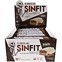 Sinister Labs Sinfit Bar, Cinnamon Crunch, 83 g, Pack of 12