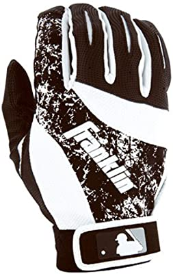 Franklin Sports 2nd-Skinz Batting Gloves Black/White Adult Medium