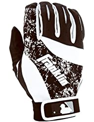 Franklin Sports 2nd-Skinz Batting Gloves Black/White Adult Small