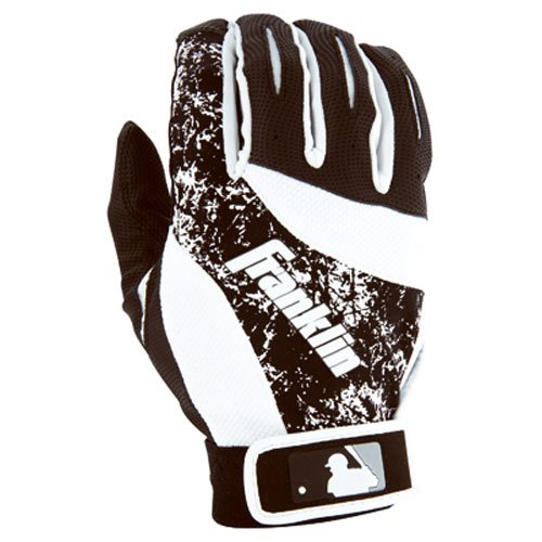 franklin-sports-2nd-skinz-batting-gloves-black-white-adult-medium