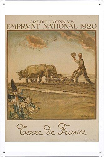 world-war-i-one-tin-sign-metal-poster-reproduction-of-crdit-lyonnais-emprunt-national-1920-terre-de-