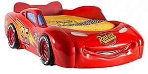 Lit voiture 90x190 coloris rouge ultra design