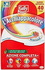 Grey L'Acchiappacolore Fogli Cattura Colore Lavatrice Evita Incidenti Lavaggio, 40 P