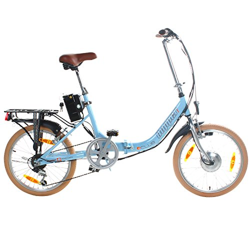 20 Zoll Viking Hopper Elektrofaltrad HOP102 Himmelblau Pedelec Klappbar E-Bike StVZO