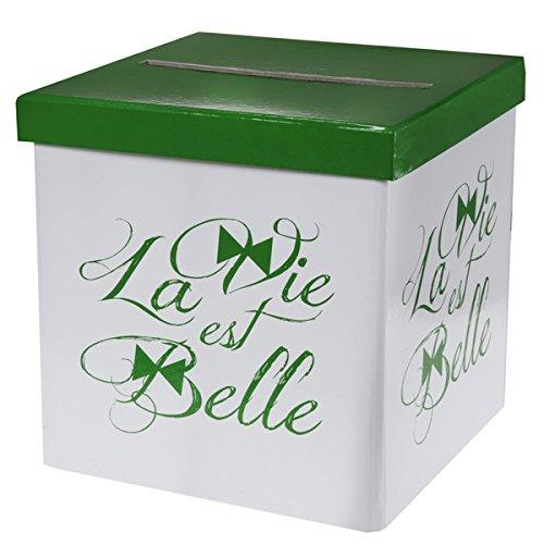 SANTEX 5257-10, TIRELIRE La Vie est belle vert