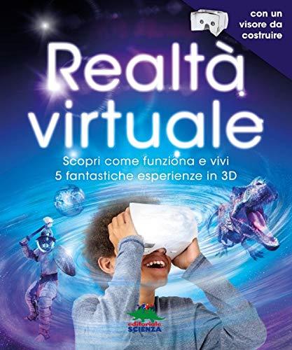 Maglietta Didattica in Realt/à Aumentata Azzurro Virtuali-Tee /Bambini: L Curiscope
