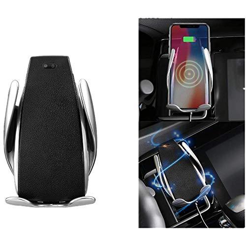 ONEVER Sensore a Infrarossi per Montaggio a Telefono Senza Fili Caricatore per Auto Supporto a Morsetto per Auto Supporto per Presa d'Aria Rotazione a 360 Gradi Solo per Dispositivi Q