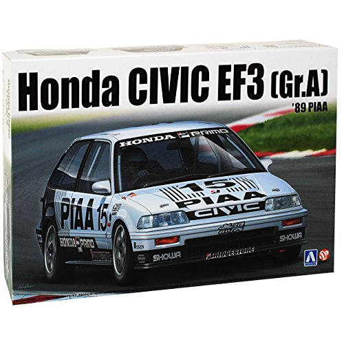 Honda Civic EF3 Gruppe A 1989 PIAA 4. Generation 1987-1991 24005 Nr 06 Kit Bausatz 1/24 Aoshima Beemax Modell Auto