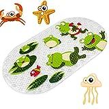 Anlass Kids Cartoon Non Slip Mats Mildew Resistant Non Slip Mats for Children Sea Turtle