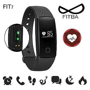 Smartwatch fitness armband mit Pulssensor und Benachrichtigungen