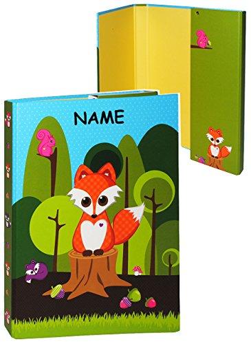 Ordner / Sammelmappe - für A4 - Fuchs - mit NAMEN - für Hefte, Zeitschriften, Zeichnungen ... / Ringbuch - Kinder Jungen Mädchen / Tiere - Mappe Ordnungsmappe Hefter Heftbox A 4 (Spielzeug Bildern Mit)