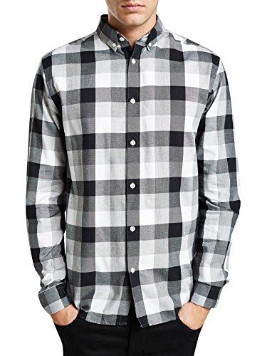JACK & JONES PREMIUM - Chemise casual Homme - Forest Shirt L/s Noos Multicolore (Black Black)