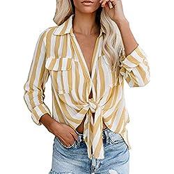 AG&T❤ Femme Tee Shirt Manche Longue Été Sweatshirt Blouse Tee Vrac Femme Ete 2019 Nouveau