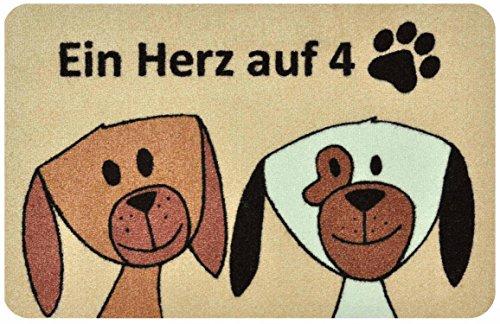deco-mat Fußmatte Hund - Fussmatte Innen, Rutschfest, waschbar - Schmutzfangmatte - Fussabtreter - Türmatte 50x70 cm (Hund Katzenklo Innen)