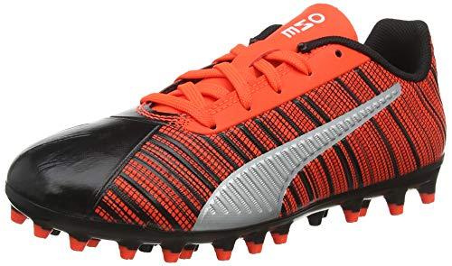 PUMA One 5.4 MG Jr, Botas de fútbol Unisex Niños, Black-Nrgy Red Aged Silver, 37 EU