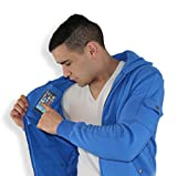 AyeGear H13 Hoodie with 13 Pockets, iPad or Tablet Pocket, MultiPocket Zip Up Fleece Jacket