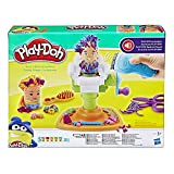Play-Doh Buzz n Cut Fuzzy Pumper Barber Shop Toy with Electric Buzzer and 5 Non Toxic Play Doh Colours, 2 Ounce Cans