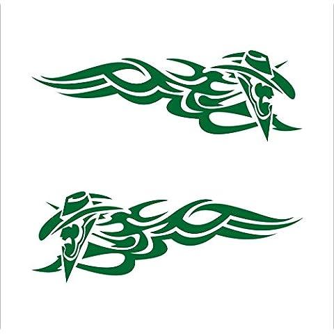 3103__DGRE Sticker per auto tatuaggio tribale ( Dark (Tatuaggio Di Gomma)