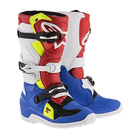 Alpinestars Tech 7S Youth Motocross Boots - Blue/White - Youth 7