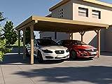 Carport Flachdach SILVERSTONE I 500x500 cm Bausatz Flachdachcarport