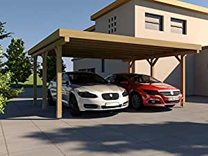 carport flachdach silverstone ii 600x500 cm bausatz flachdachcarport auto. Black Bedroom Furniture Sets. Home Design Ideas