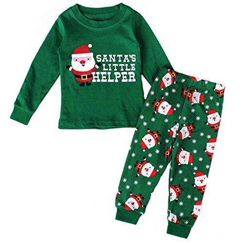 BOZEVON Baby Jungen & Mädchen Weihnachten Kleinkind Fancy Party Kostüm Lange Ärmel Tutu Outfit Santa Neujahr Outfits Kinder Pyjamas Weihnachtskostüm Set , (Kind Kostüme Santa)