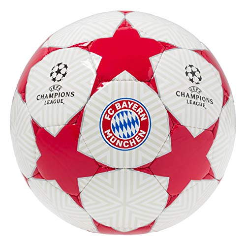 FC Bayern München Fußball/Ball - UEFA Champions League - weiß/rot mit Sternen Gr. 5 & 1 Sportmannschaft (1 (Handball))