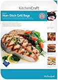 KitchenCraft Non-Stick Reusable Grill Bags (Pack of 3)
