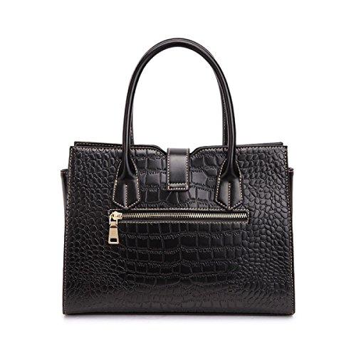 Dame Handtasche Handtasche Compound Cowhide Checkered Edlen Eleganten Reifen Weiblichen Quadratischen Diagonal Paket Schultertasche A