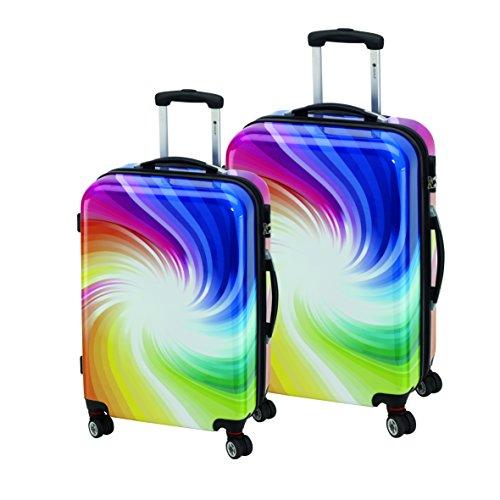 Trolley Set Multicolor 2 teilig Kofferset mit 4 Reifen Gepäckset 360 Grad und inklusive Kofferwaage