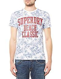 Superdry T-Shirt Men TIKI CLUB AOP TEE Optic Navy