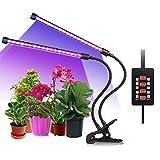 ALIENGT Led Pflanzenlampe UV Lampe Pflanzen Grow Lights - 18W Led Lampe Dimmbar für Pflanzen mit Zeitschaltuhr, Automatische EIN/Aus Schalter, 5 Stufe Lichtstärke