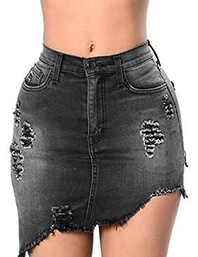 Inlefen Sra. Temporada de verano Apretado Cintura alta Pantalones cortos de mezclilla Jeans Pantalones de playa...