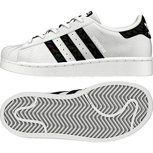 low priced 8de31 33a58 adidas Superstar Scarpe da Ginnastica Basse Unisex-Bambini, Bianco Core  BlackFootwear White